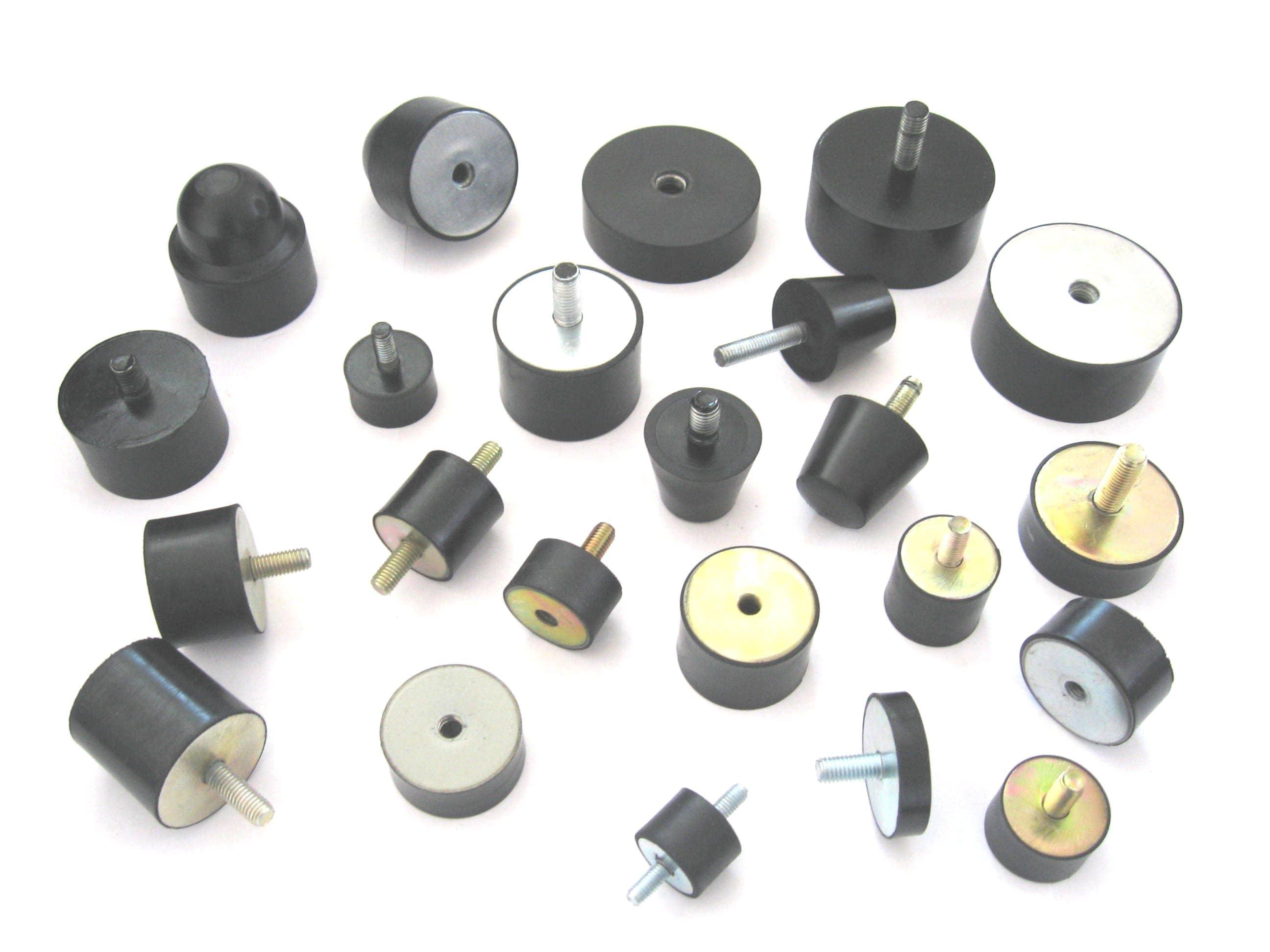 1. wibroizolatory gumowo-metalowe, amortyzatory walcowe fi 70, fi 50, fi 40 fi 30, fi 25, stożkowe i inne elementy wibroizolacyjne