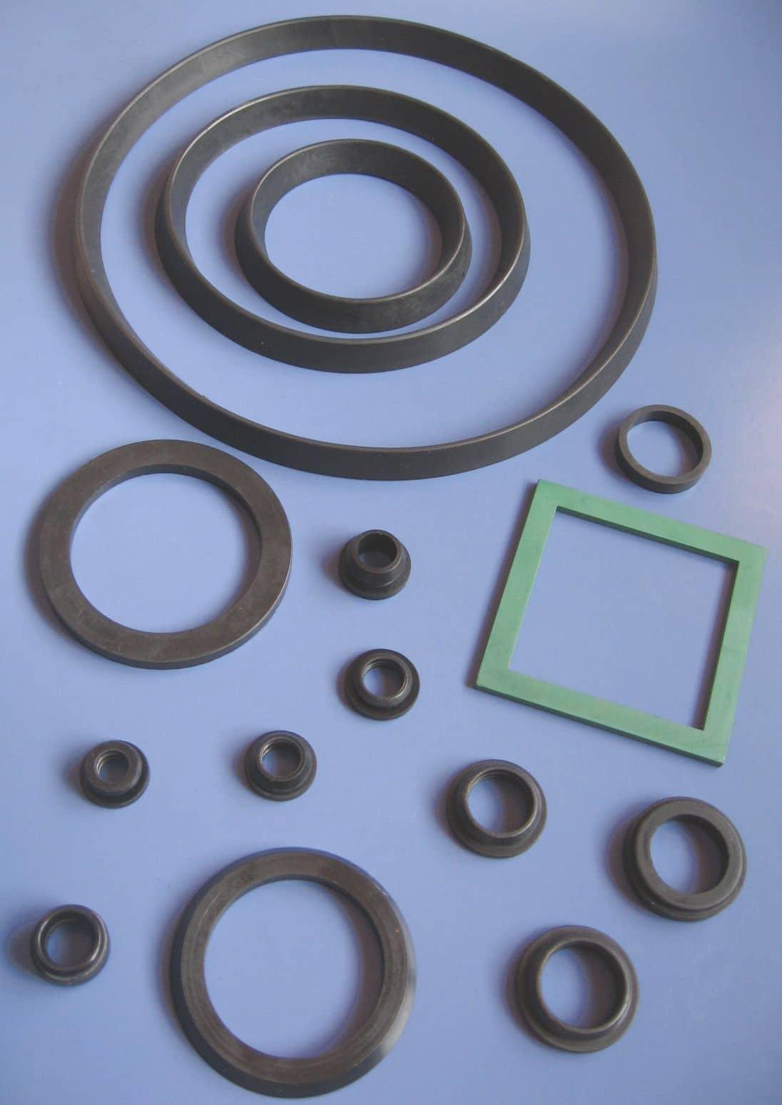13. pierścienie uszczelniające i inne uszczelki formowane do filtrów