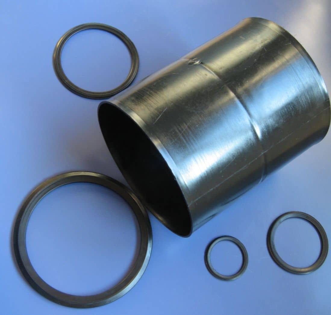 16. złączka MT 160 BU, uszczelki gumowe do rury osłonowej dwuściennej karbowanej seria U ( U50, U75, U100, U125, U160 )