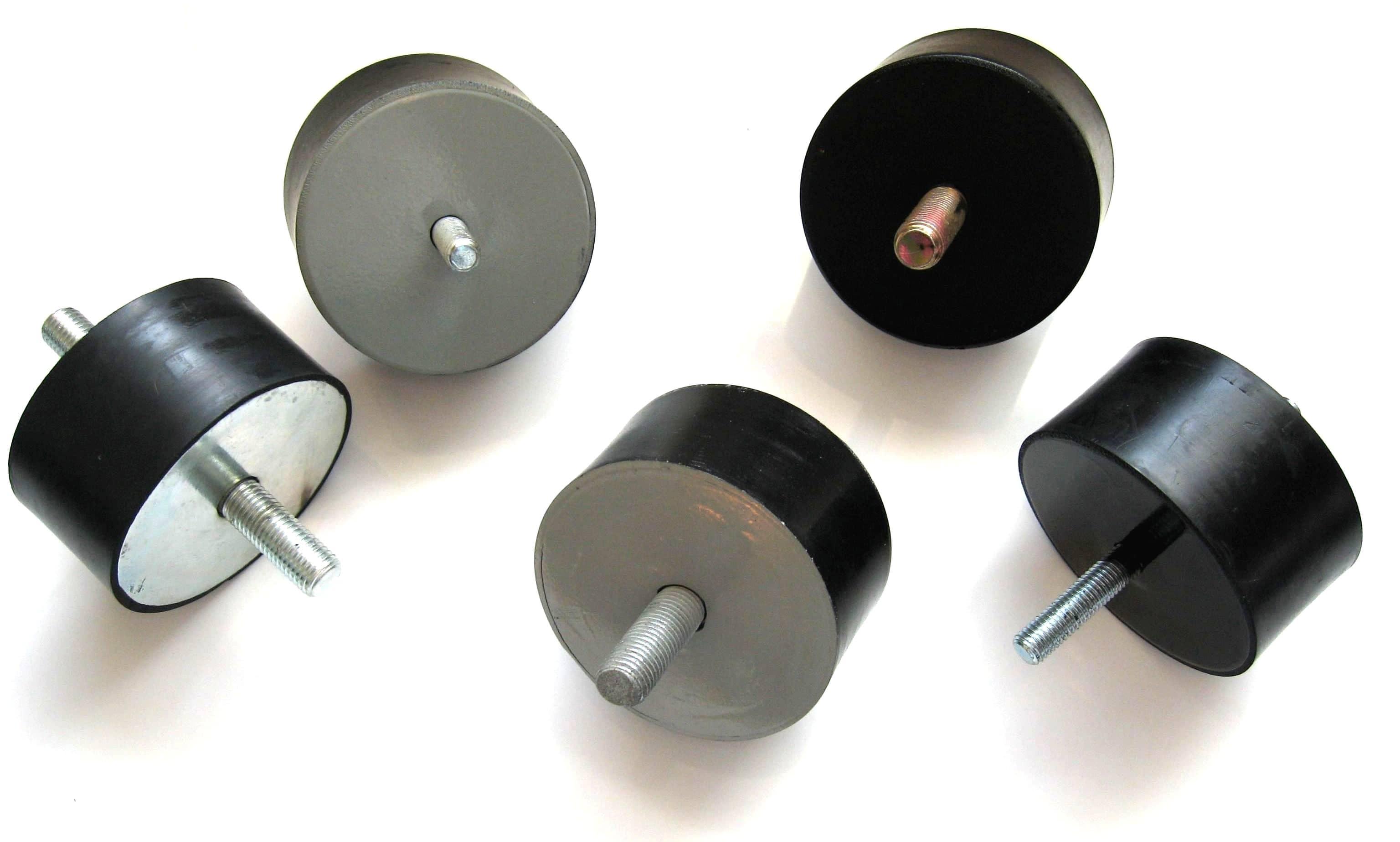 2. wibroizolator gumowo-metalowy walcowy fi 100 h 50 mm , amortyzator, poduszka gumowa cylindryczna wibroizolacyjna